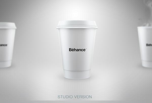 starbucks style mockup free on behance