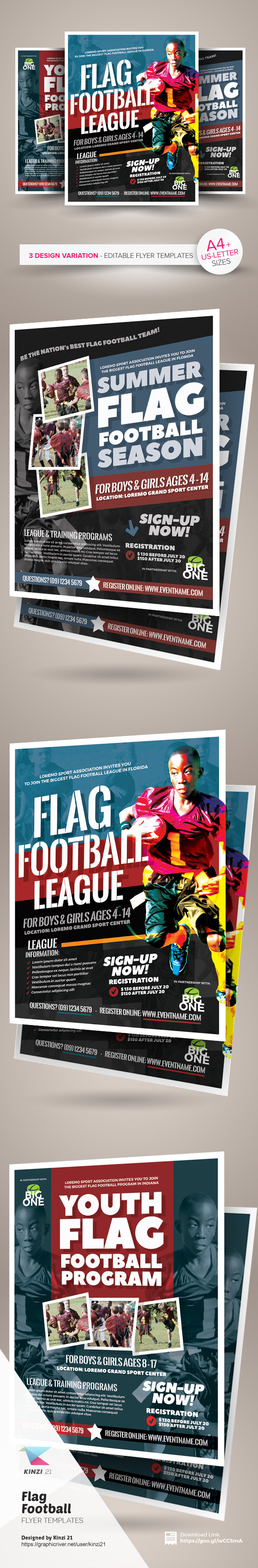 flag football flyer templates on behance flag football flyer templates are fully editable design templates created for on graphic river more info of the templates and how to get the
