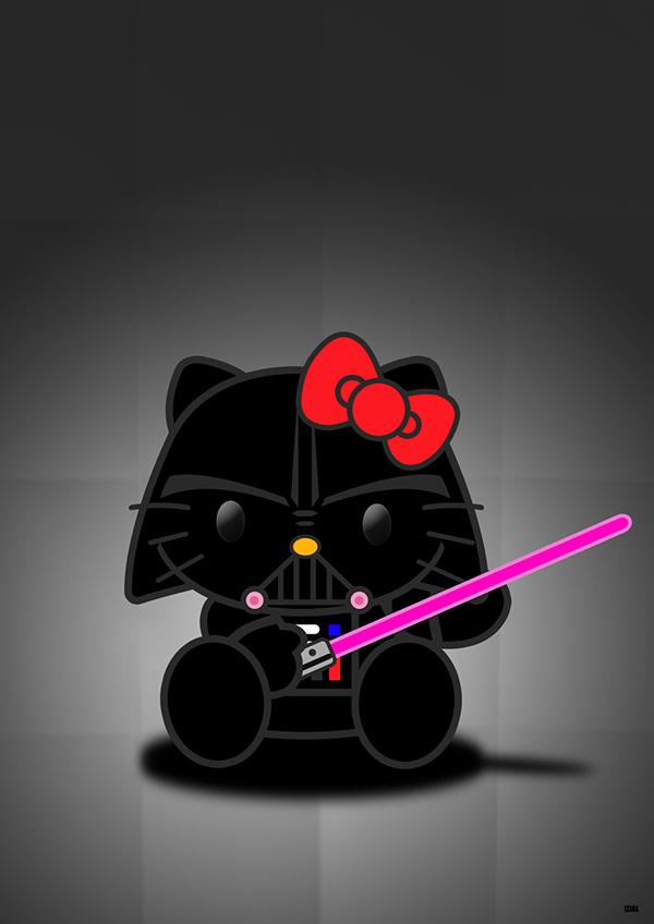 Darth kitty on behance - Dark vador hello kitty ...