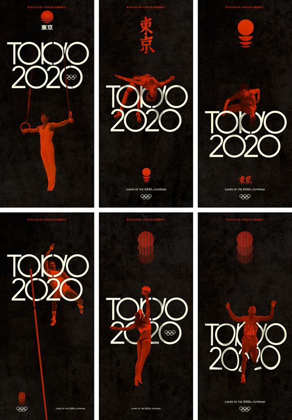 Quot Tokyo 2020 Quot Retro Olympics On Pantone Canvas Gallery