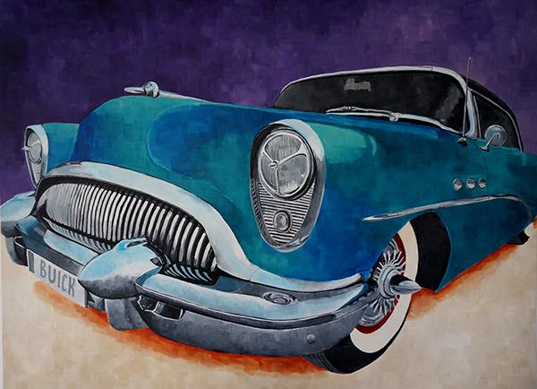 Fat Car buick acryl chrome muscle car