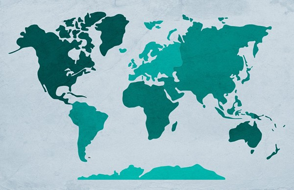 World map vector outlines on behance this hand drawn world map illustration has been created with designers in mind it is made with simple smooth vector shapes and divided into 7 continents gumiabroncs Choice Image