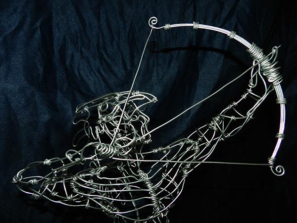 wire,anatomy,daniel,sculpture,design,art,Brazil,orisha,orixa,Candomblé,human,body,bow,arrow,handcraft
