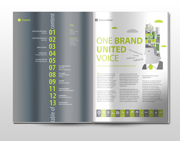 connect magazine company internal newsletter on behance