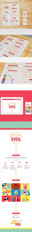 Curriculum Vitae CV Self Promotion personal website syril bobadilla Resume hello there Creative Resume pencil one page portfolio