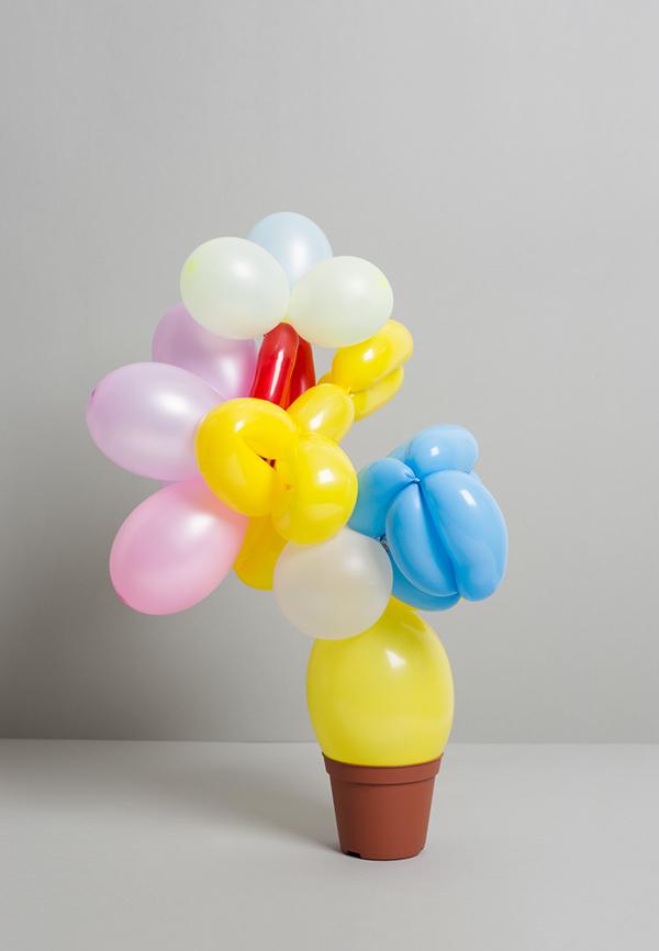 Plant balloon photo illustration  balloon twisting construction props Prop Design