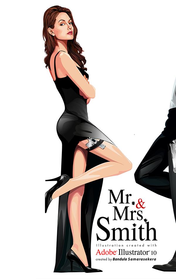 мистер и миссис смит постер на английском