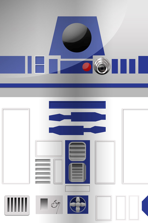It Brought Back All The Awesome Memories Of Star Wars Movie Series And Inspired Me To Make A Wallpaper That Made My Phone Look Like R2D2 Himself