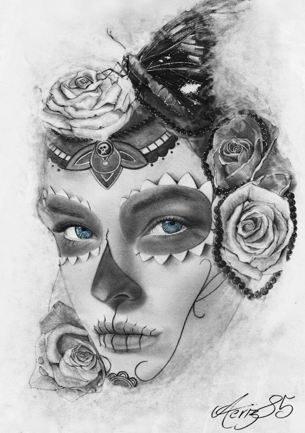 SugarSkull Mask Drawing Pencil On Behance