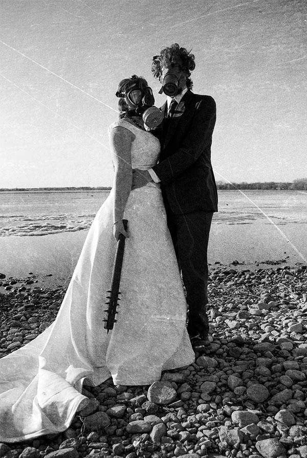 Post apocalyptic wedding on student show for Student wedding photographer