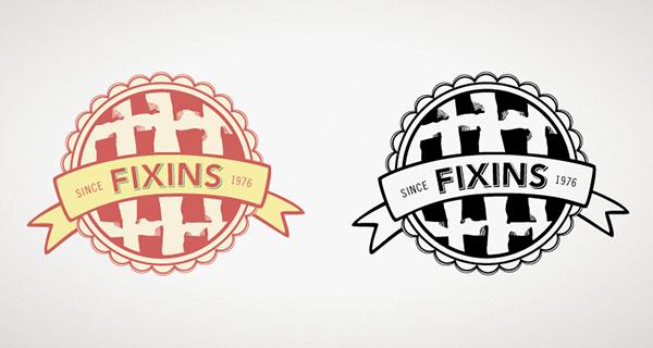 logo logos Logo Design identity fixins knot gentlemen's ties restaurant