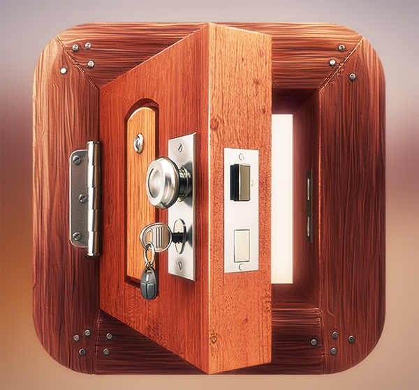 App icon design wooden door on behance for Door design app