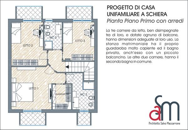 Progetto di casa unifamiliare a schiera on behance - Progetto completo casa unifamiliare ...