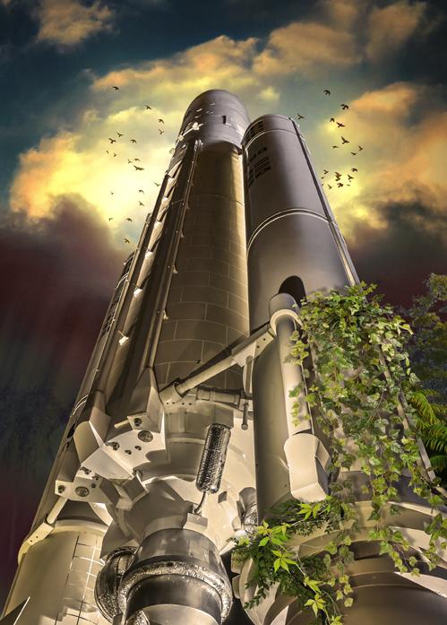 ILLUSTRATION  science fiction rockets