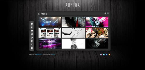 Auzora - Unique One Page Portfolio