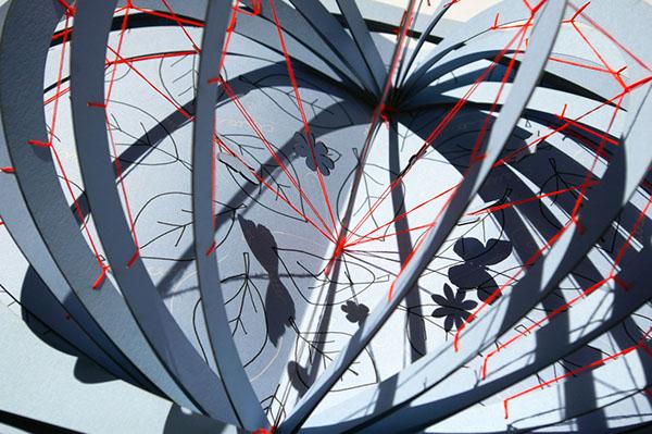 Clatter Garden of Whatever paper RECYCLED pop-up