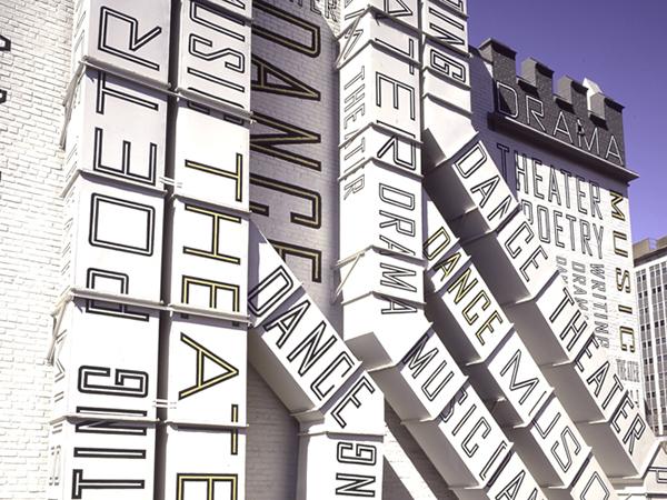 environmental graphics  Signage  schools Performing Arts