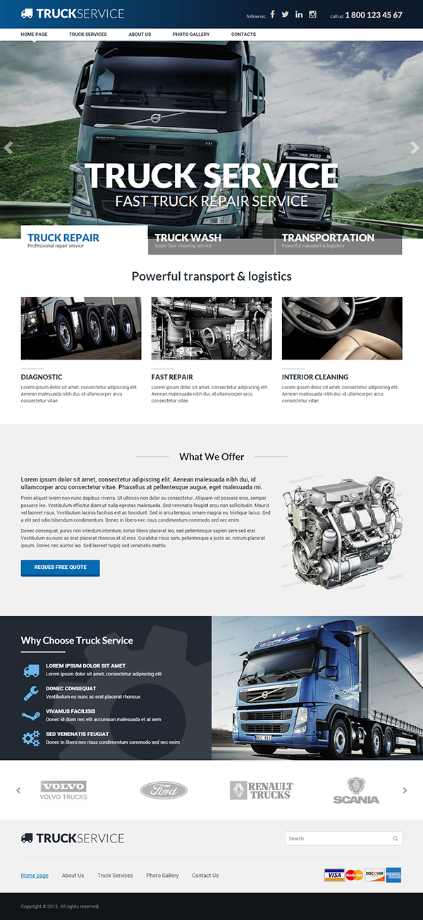 Truck Service Responsive HTML Template