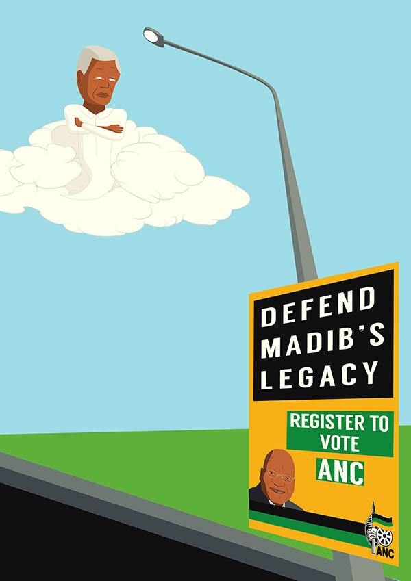 ijusi magazine Mandela anc madib's Election poster south africa madiba