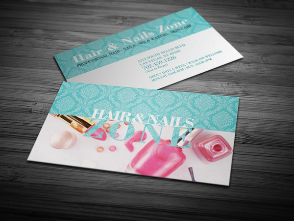hair amp nails zone business card on behance