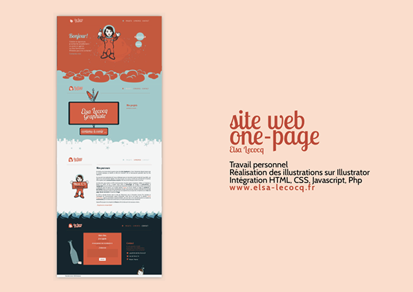 site web personnel  elsa lecocq  graphiste   on behance