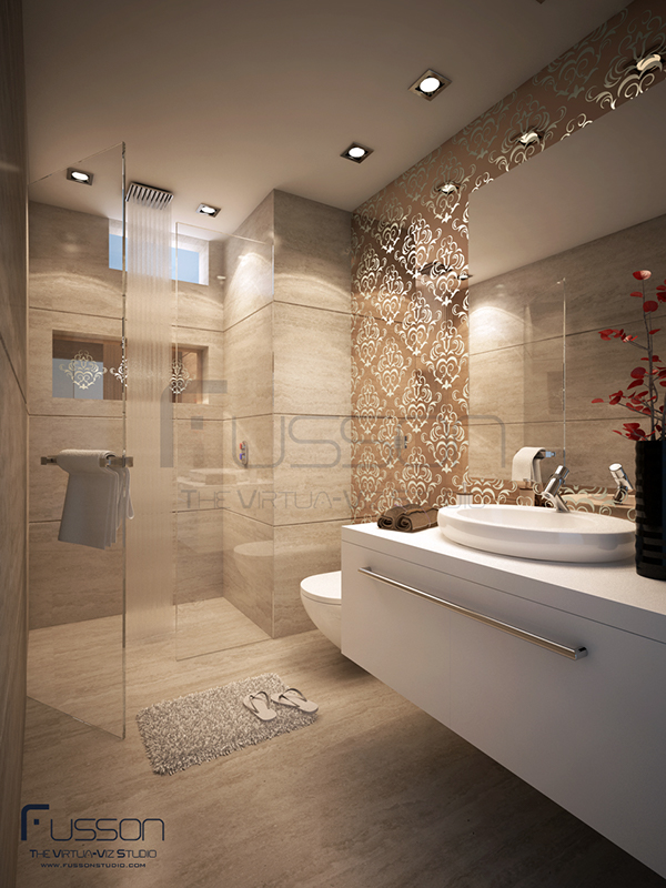 Bathroom visualization on behance for Bathroom design visualizer