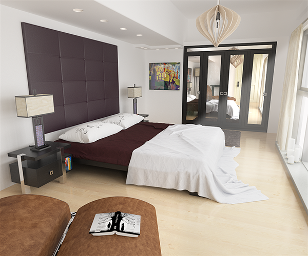 Docklands Bedroom Visualisation. 3Ds Max & Vray on Behance