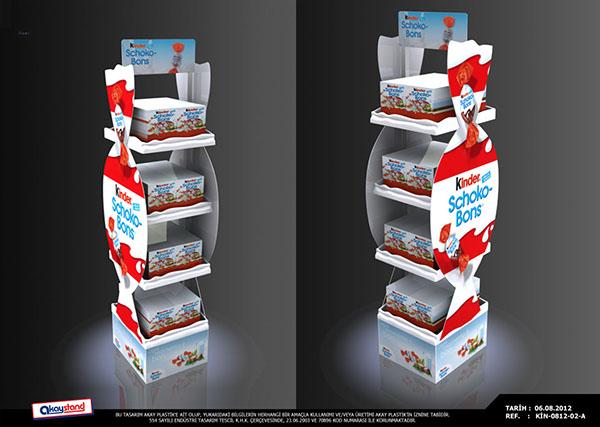 D Exhibition Stand : Kinder schokobons floor stand on behance