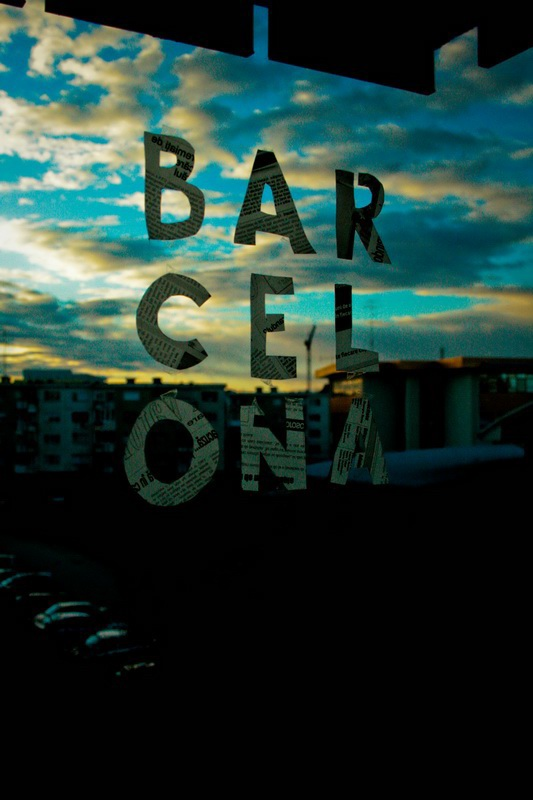 Window SKY poster barcelona paper newspaper collage city photo word showusyourtype Transparency grids guides stencil square