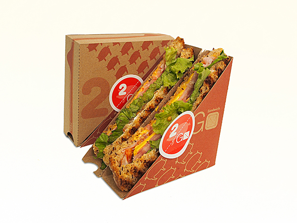 2 Go Sandwich Packaging on Behance