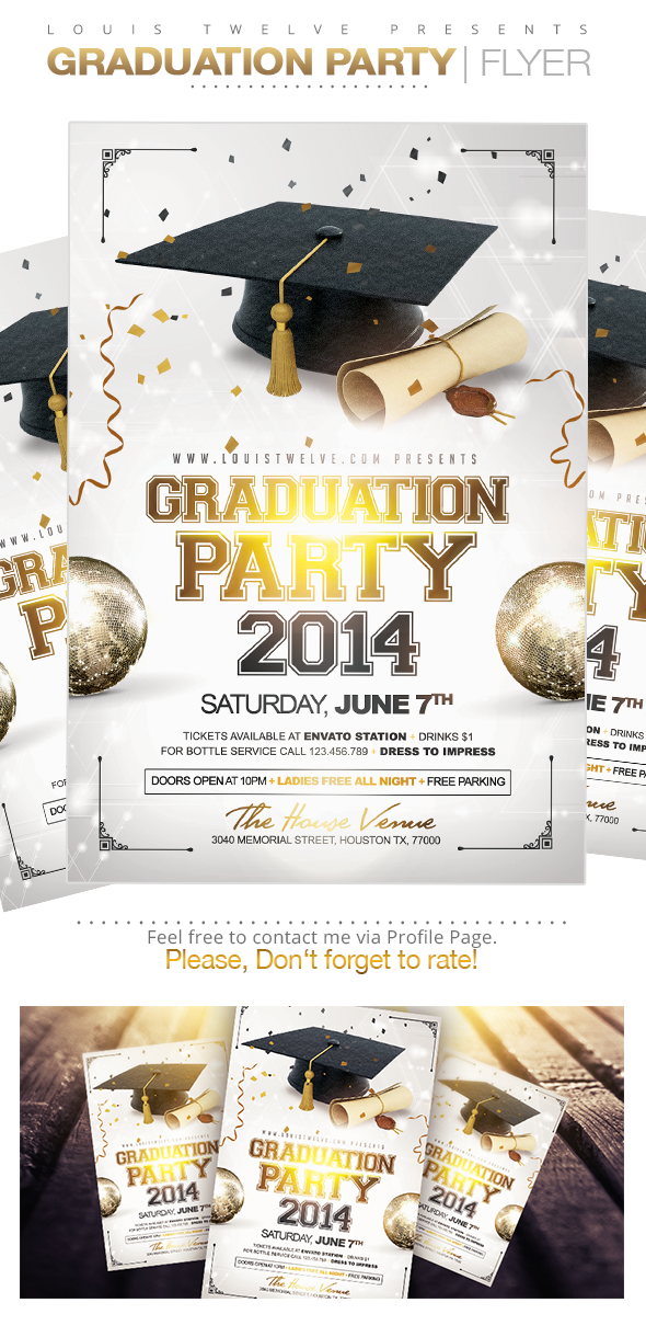 party brochure template - graduation party flyer template on behance