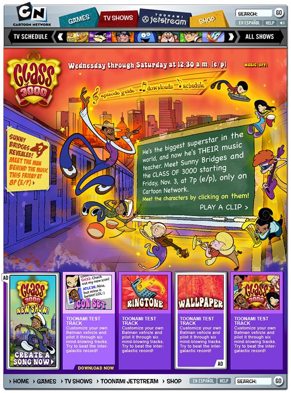 2006 Class Of 3000 Website On Behance