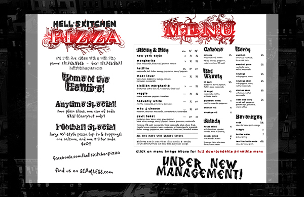 Hell\'s Kitchen Pizza Rebrand on Behance
