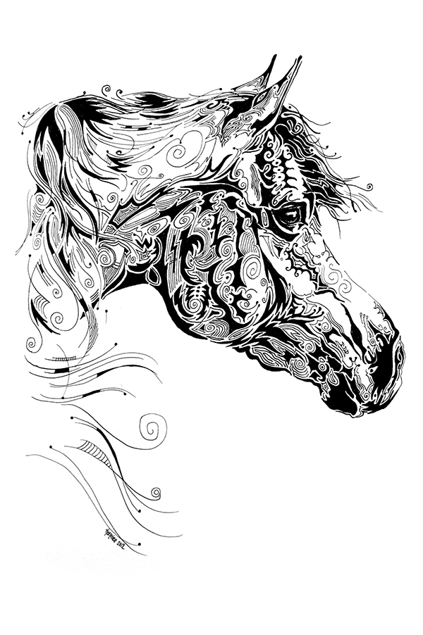 Indian ink art on behance for Art drawing ideas for adults