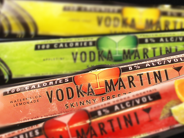Vodka Martini Skinny Freezers On Behance