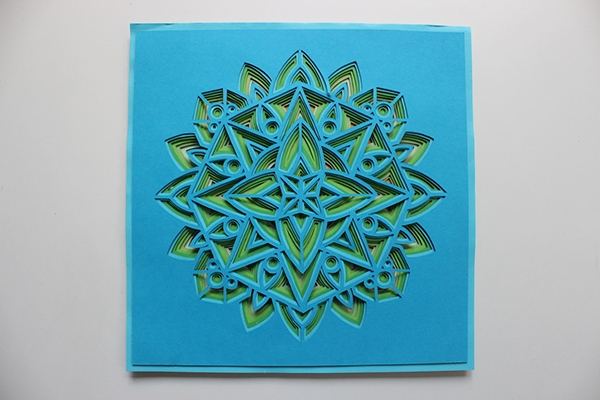 layered paper mandala on behance