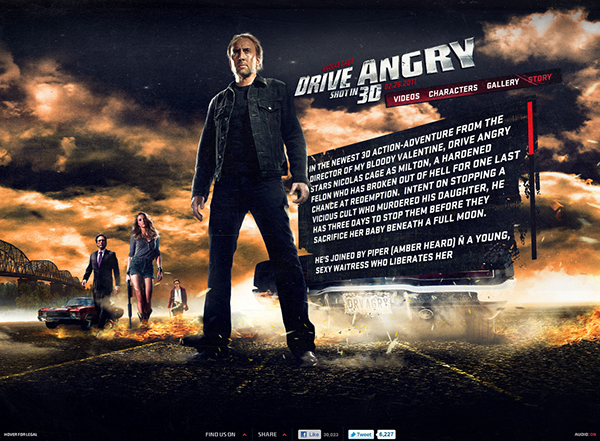 Drive Angry 3d Official Website On Behance