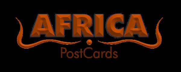 typography design postcard africa Afrika