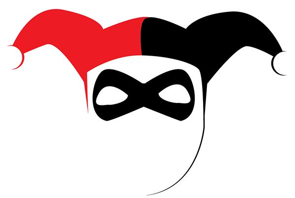 Harley quinn haha tshirt on behance for Harley quinn mask template