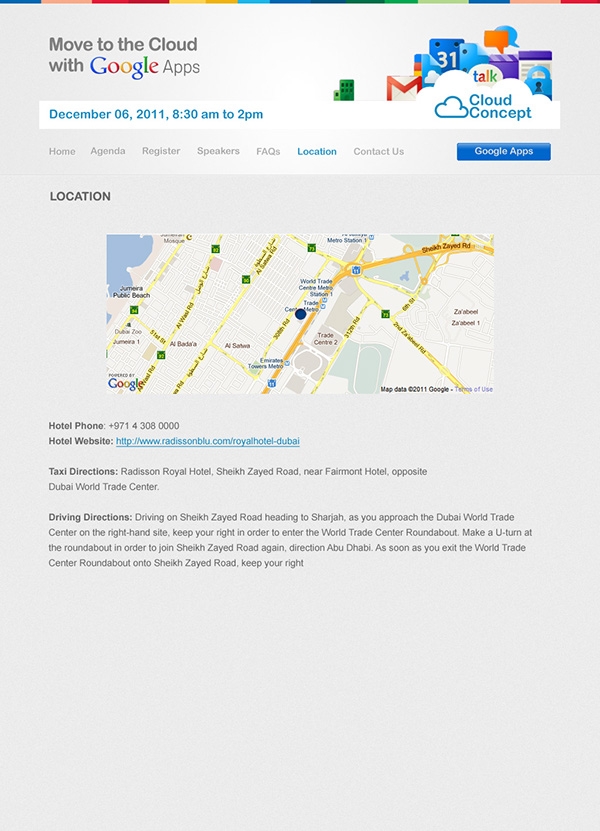 Webdesign Event microsite