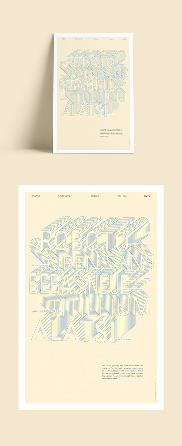 Free Typeface Poster