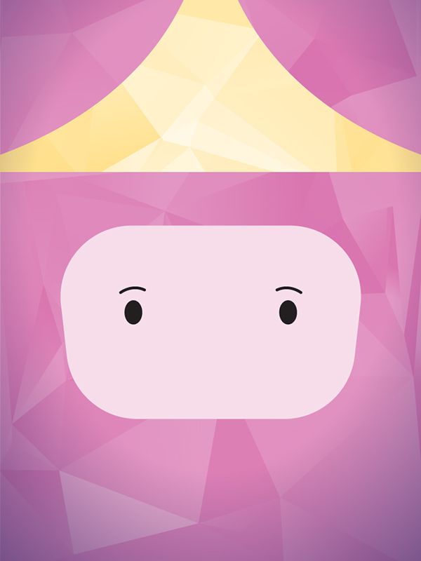 Adventure Time poly art Low Poly vector poster minimalist