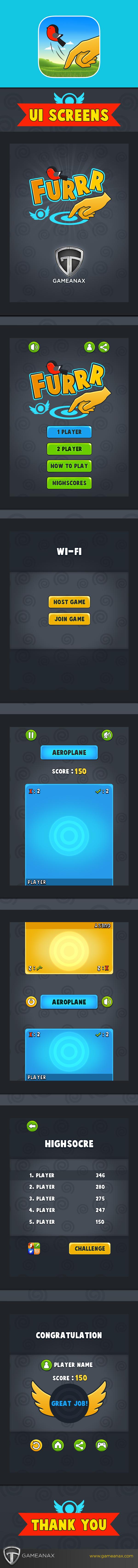 Gaming user interface iphone iPad mobile gaming