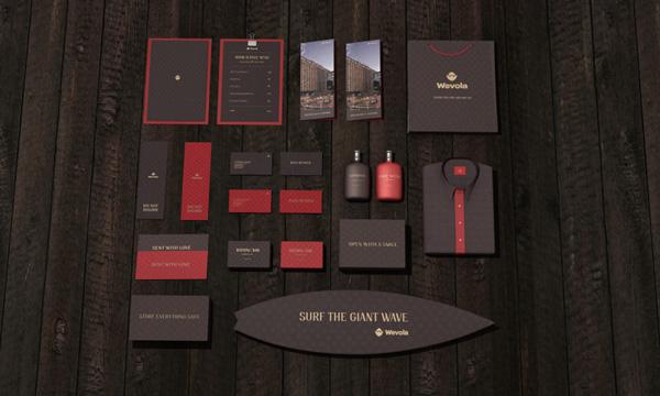 identity print logo brand identity restaurant luxury hotel Website interaction red Branding Strategy