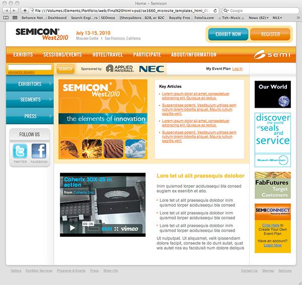 Web Design — Microsite Template on Behance
