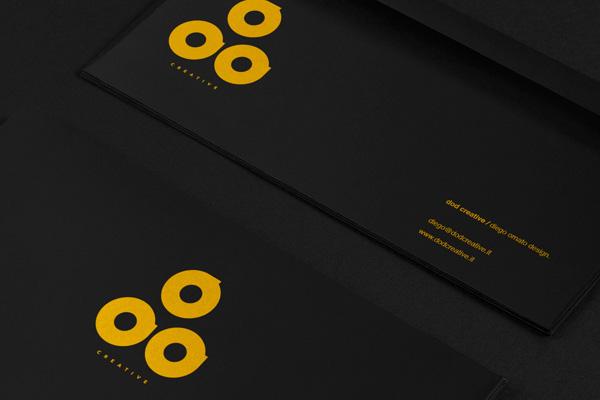 diego ornato personal branding  logo dod graphic design yellow creative black diego ornato envelopes business card brand