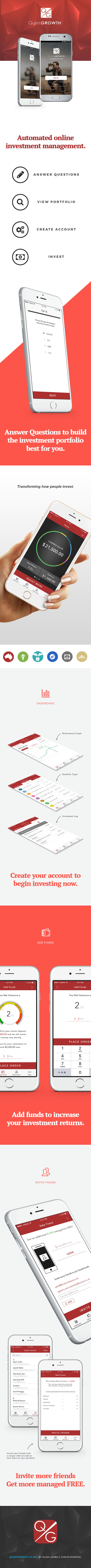 Adobe Portfolio Investment UI psd finance design ui kit graphic digital design ux ui design UX design