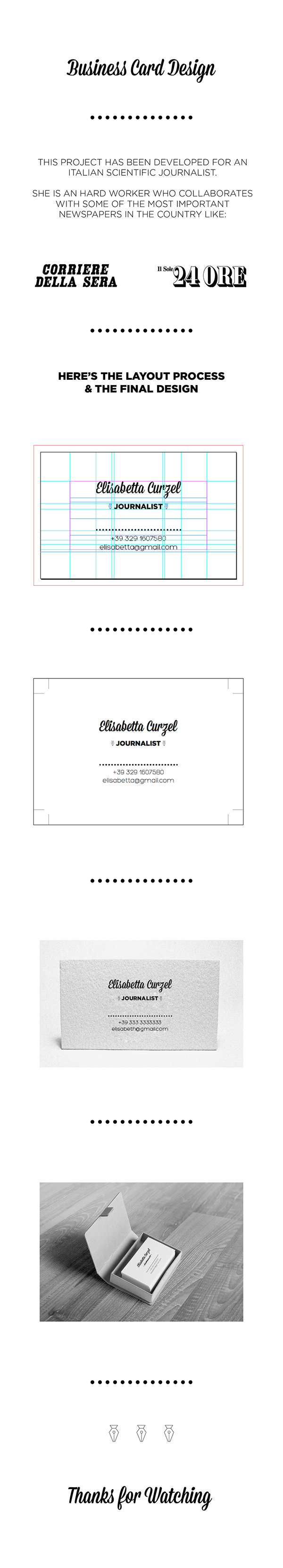 Journalist Business Card Design on Student Show