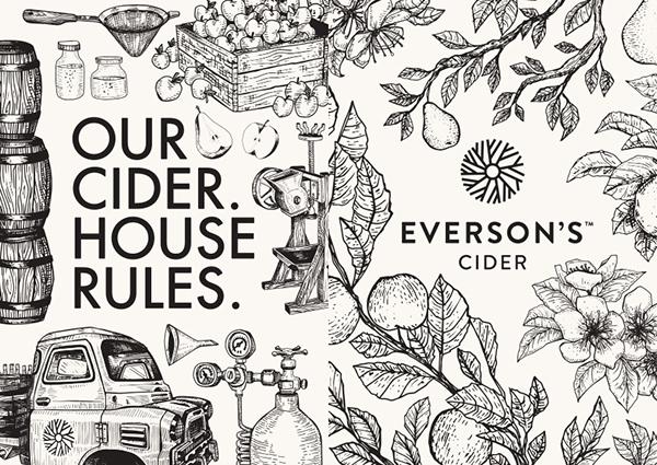 Everson S Cider On Packaging Design Served