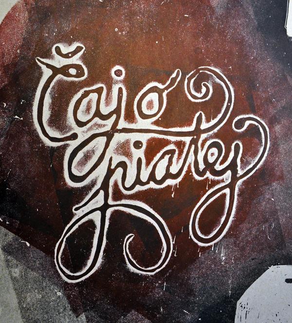 Lino-Cut poster print lettering hand idea